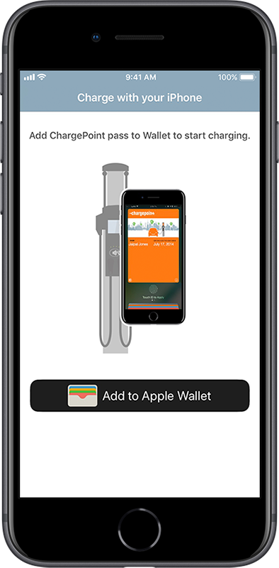 ChargePoint pass screen