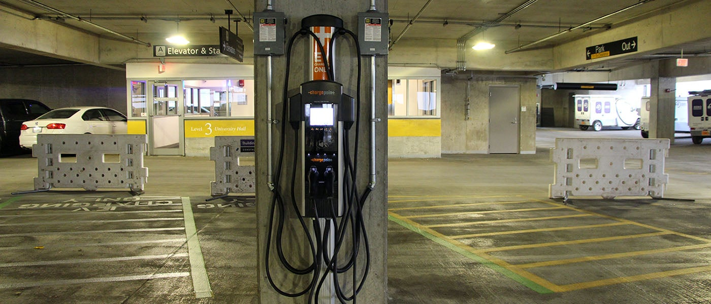ChargePoint solution in Northwestern University parking garage