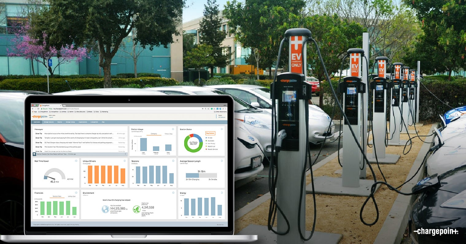 When Other Companies Were Pushing Standalone Electric Vehicle Ev Charging Stations Chargepoint Was Hard At Work Building An Integrated Fueling Network Of
