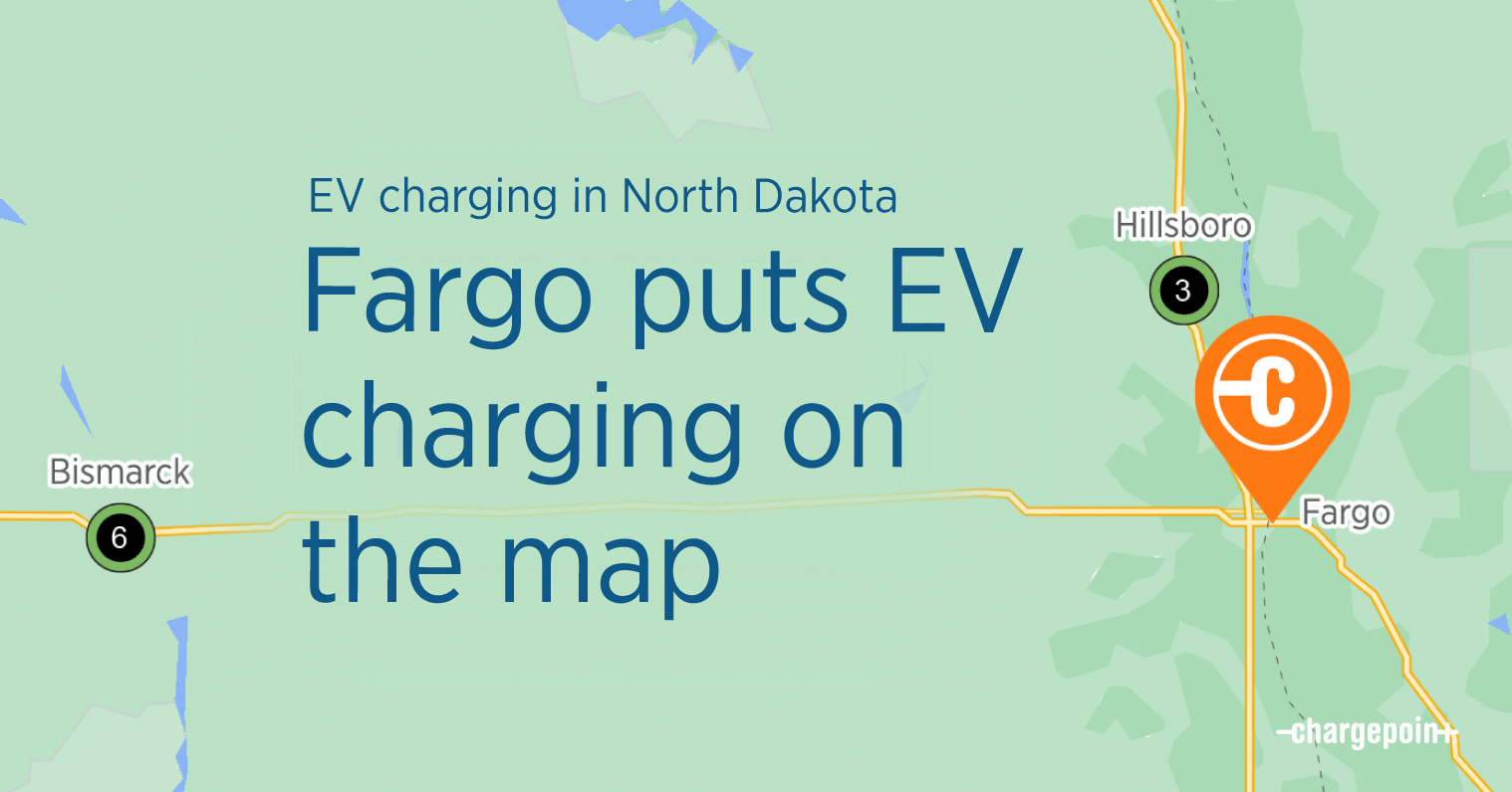 EV charging in Fargo, North Dakota banner