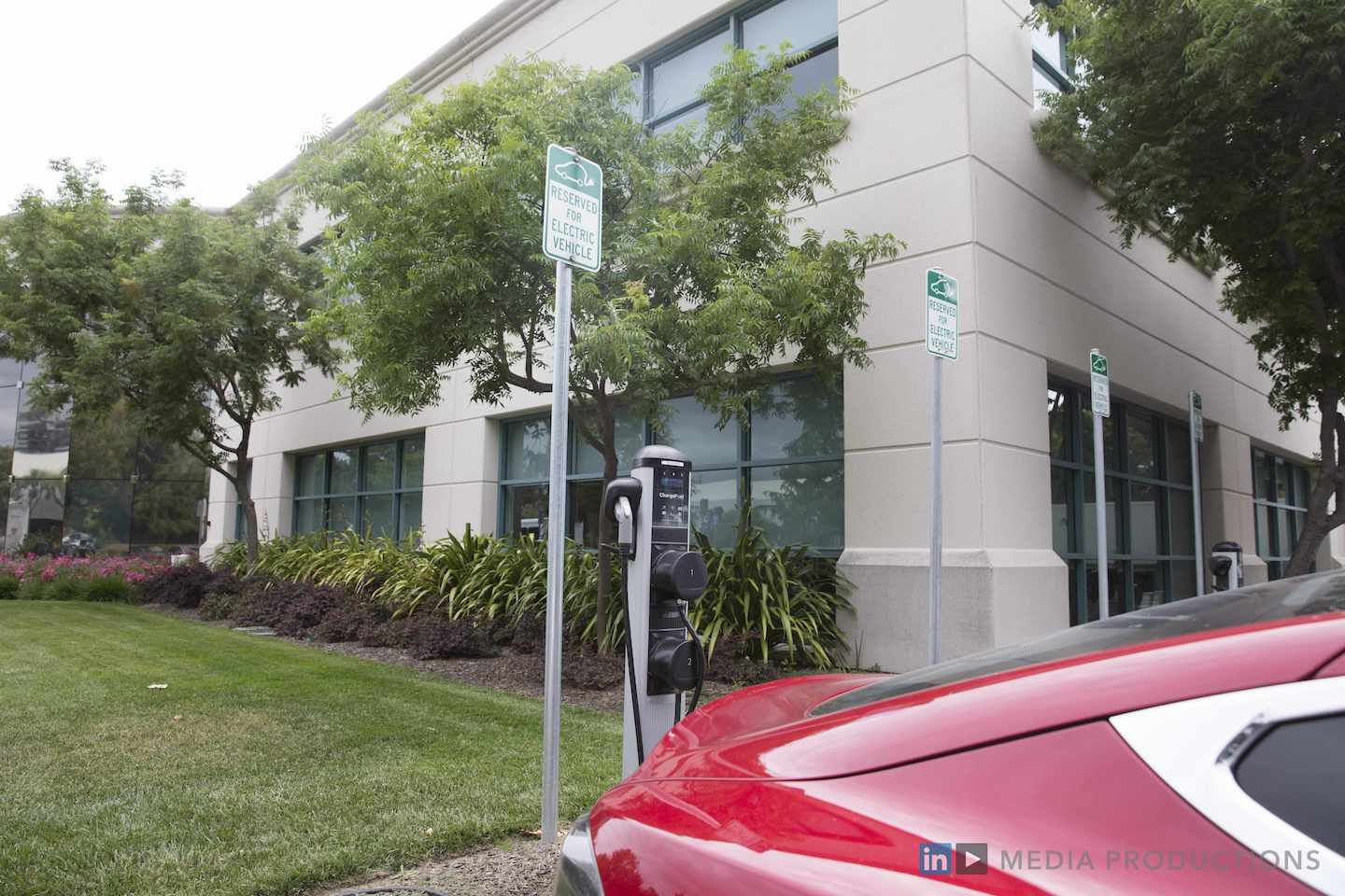 ChargePoint EV Charger at LinkedIn Campus