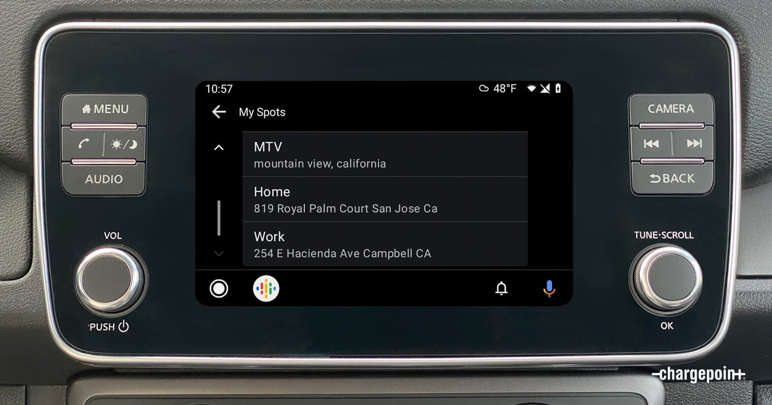 Find your EV charging spots in ChargePoint on Android Auto