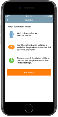 ChargePoint app - Waitlist