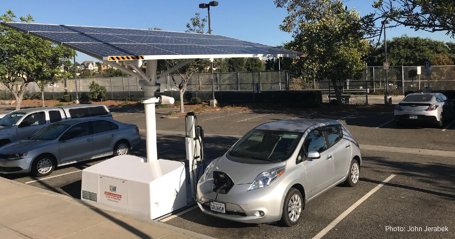 Charging EVs on solar energy has a big impact