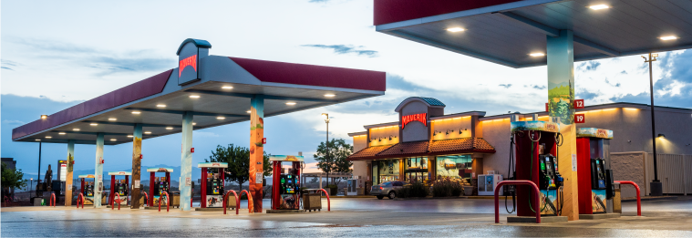 Maverik fueling station with ChargePoint smart EV charging solution
