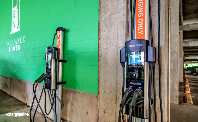 ChargePoint solutions in Robinson Park garage