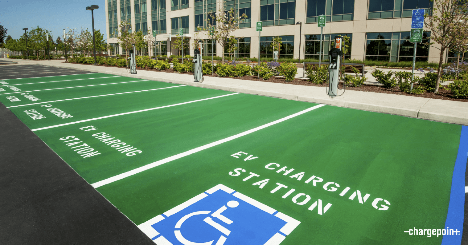 EV chargers at CRE development