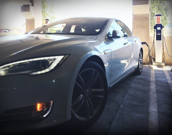 Charging Tesla Model S At Stanford