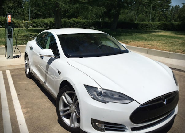 Charging A Tesla Model S Around Town