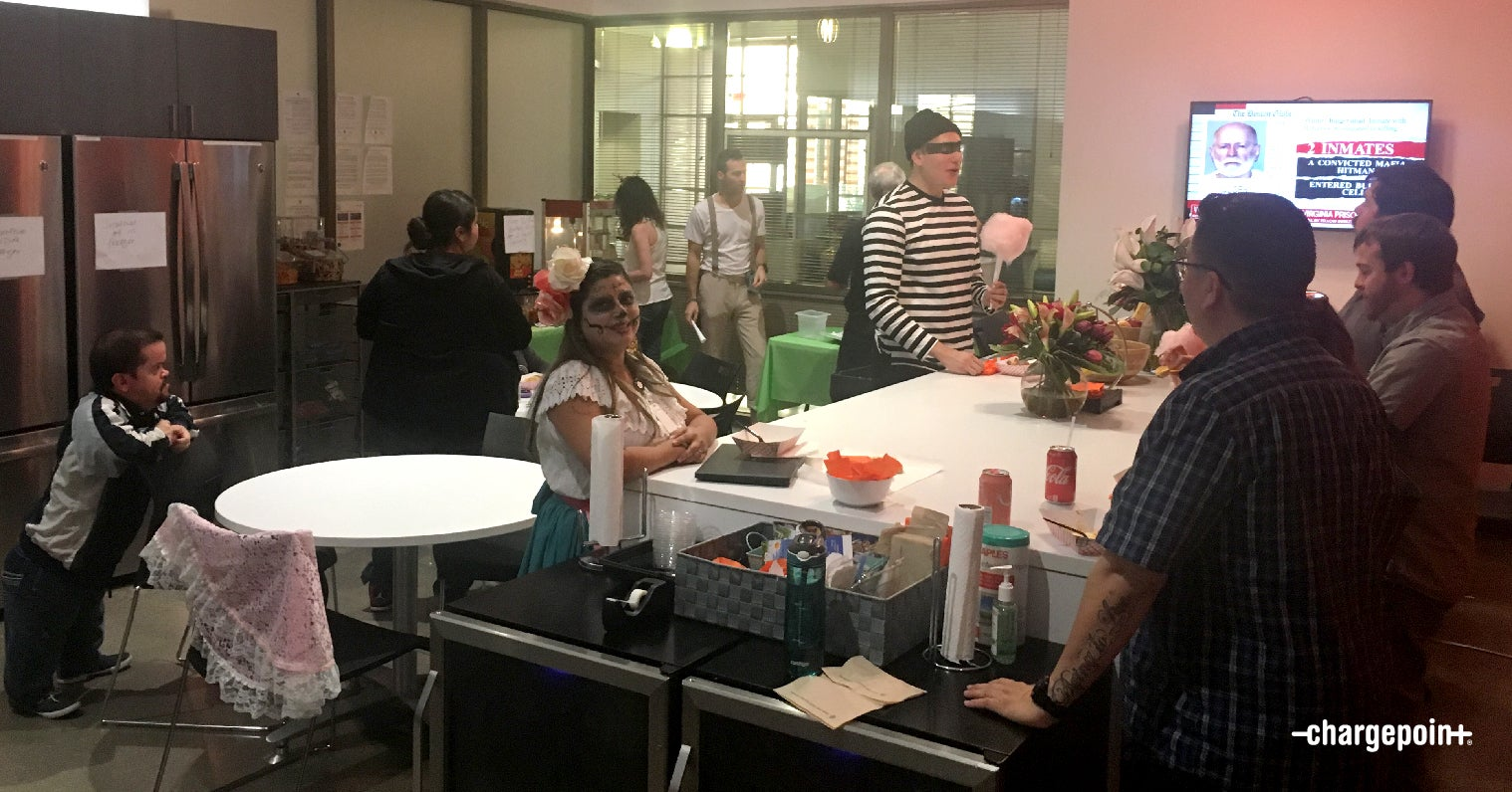 On Halloween, meetings are a bit different at ChargePoint