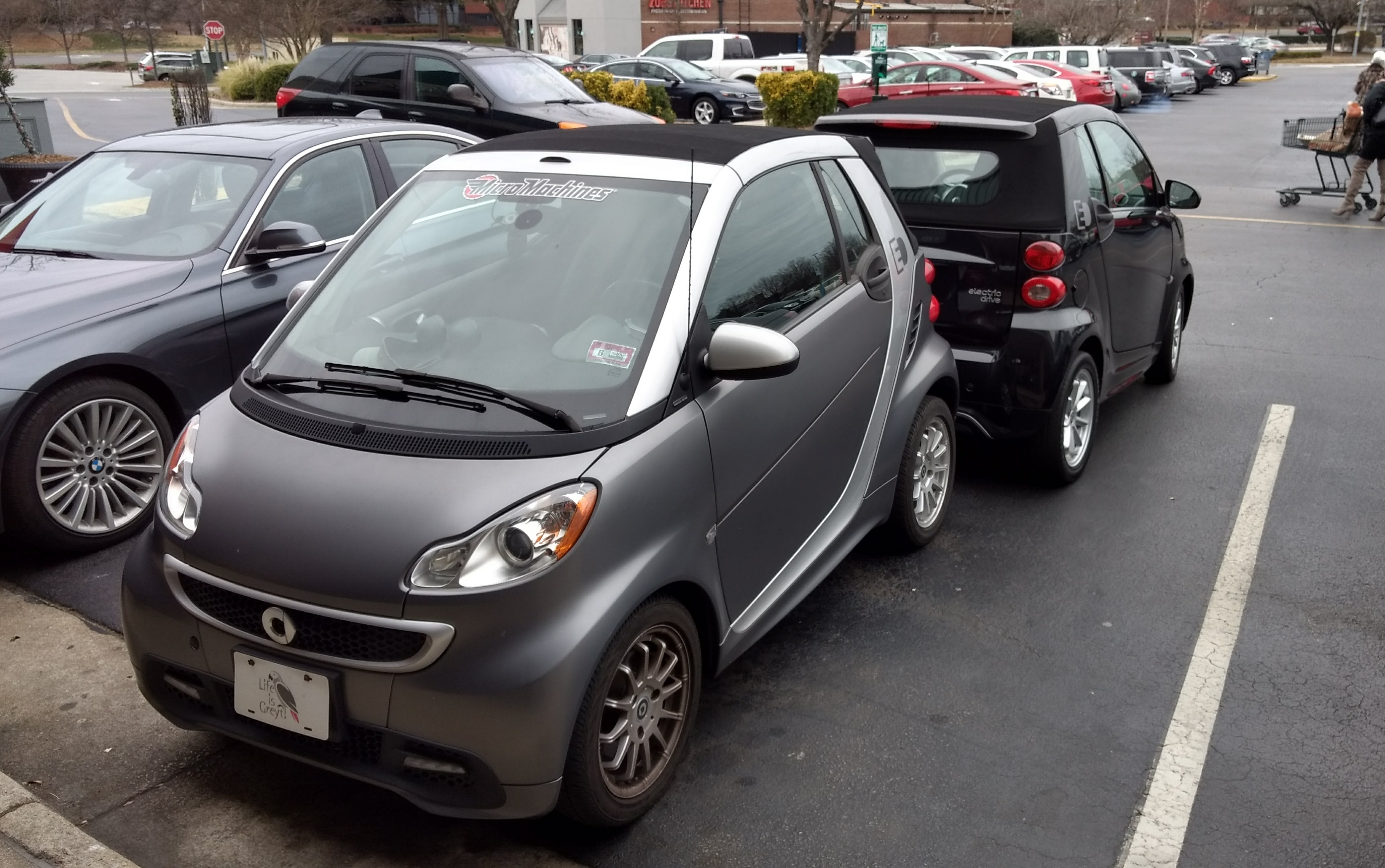 Smart cars are easy to park