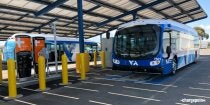 VTA bus and ChargePoint DC fast charging stations