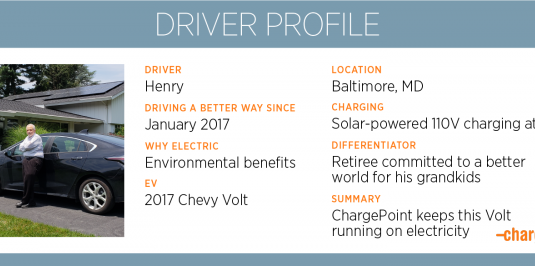 Henry's solar-powered Volt