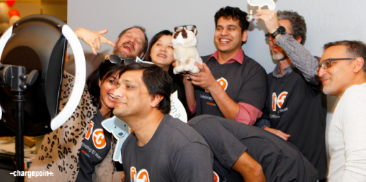 ChargePoint engineers hamming it up