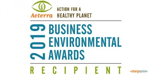 ChargePoint Wins Acterra Business Environmental Award
