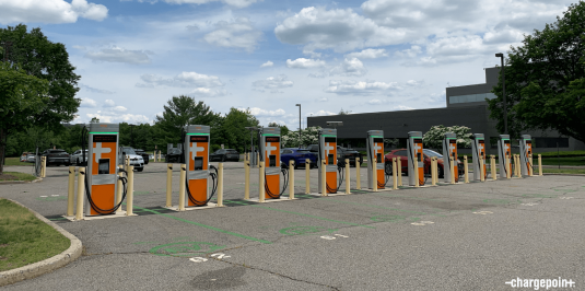 ChargePoint Express 250 Chargers at Jaguar Land Rover