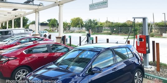 EVs Charging at Sierra Nevada Brewing Co.