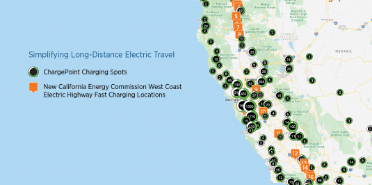 CEC West Coast Electric Highway EV Charging Spots