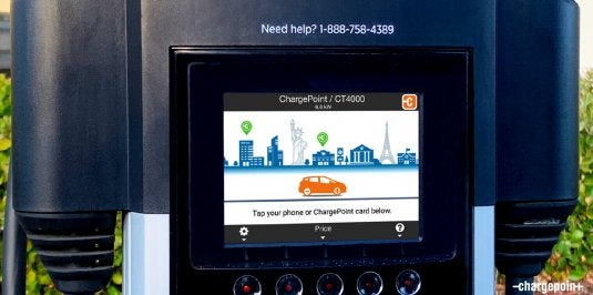 ChargePoint touchscreen