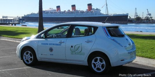 City of Long Beach electric fleet vehicle